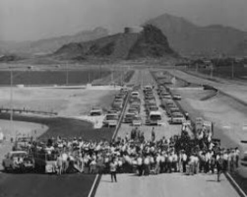 Broadway Curve Opening, 1968