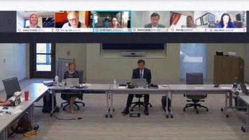 The project team meets virtually with stakeholders and local governments