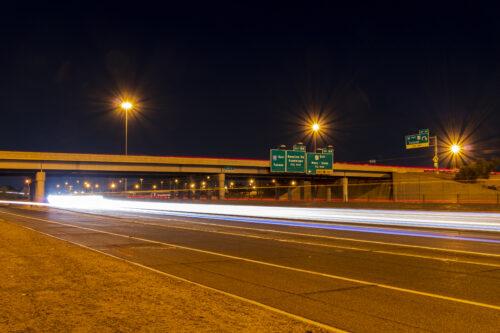 I-10 and SR 143 Night
