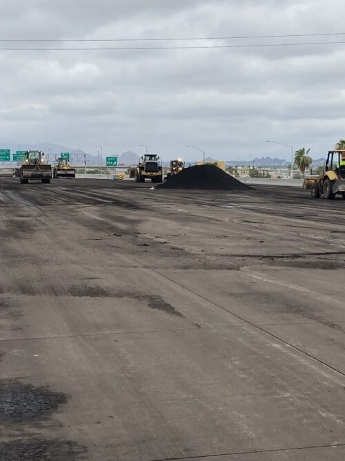 I-10 westbound pavement removal work